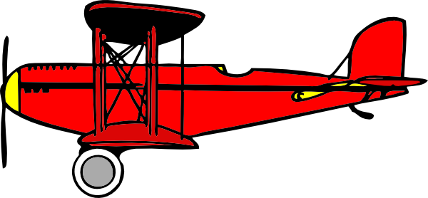 Red Biplane Clip Art At Clker - Biplane Clipart