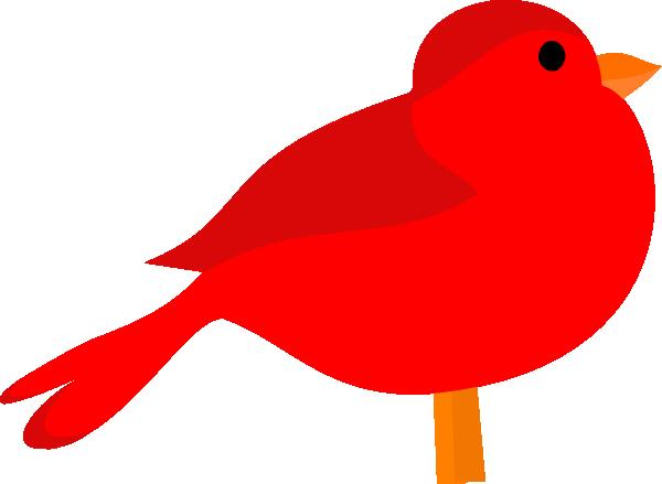 Red Bird Clip Art At Clker Co - Red Bird Clipart