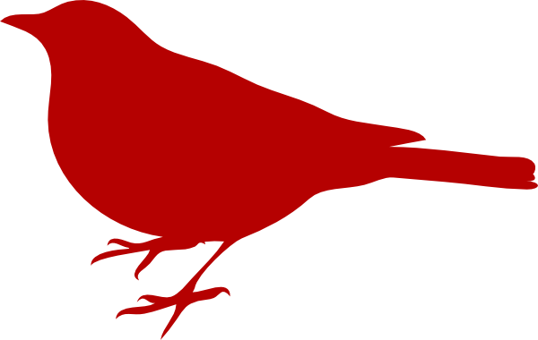 Red Bird clip art - vector clip art online, royalty free public