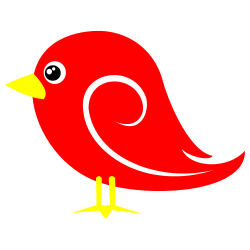 Bird red. Clip art clipartlook