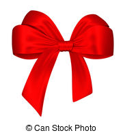 ... Red bow. 3d illustration isolated on white background