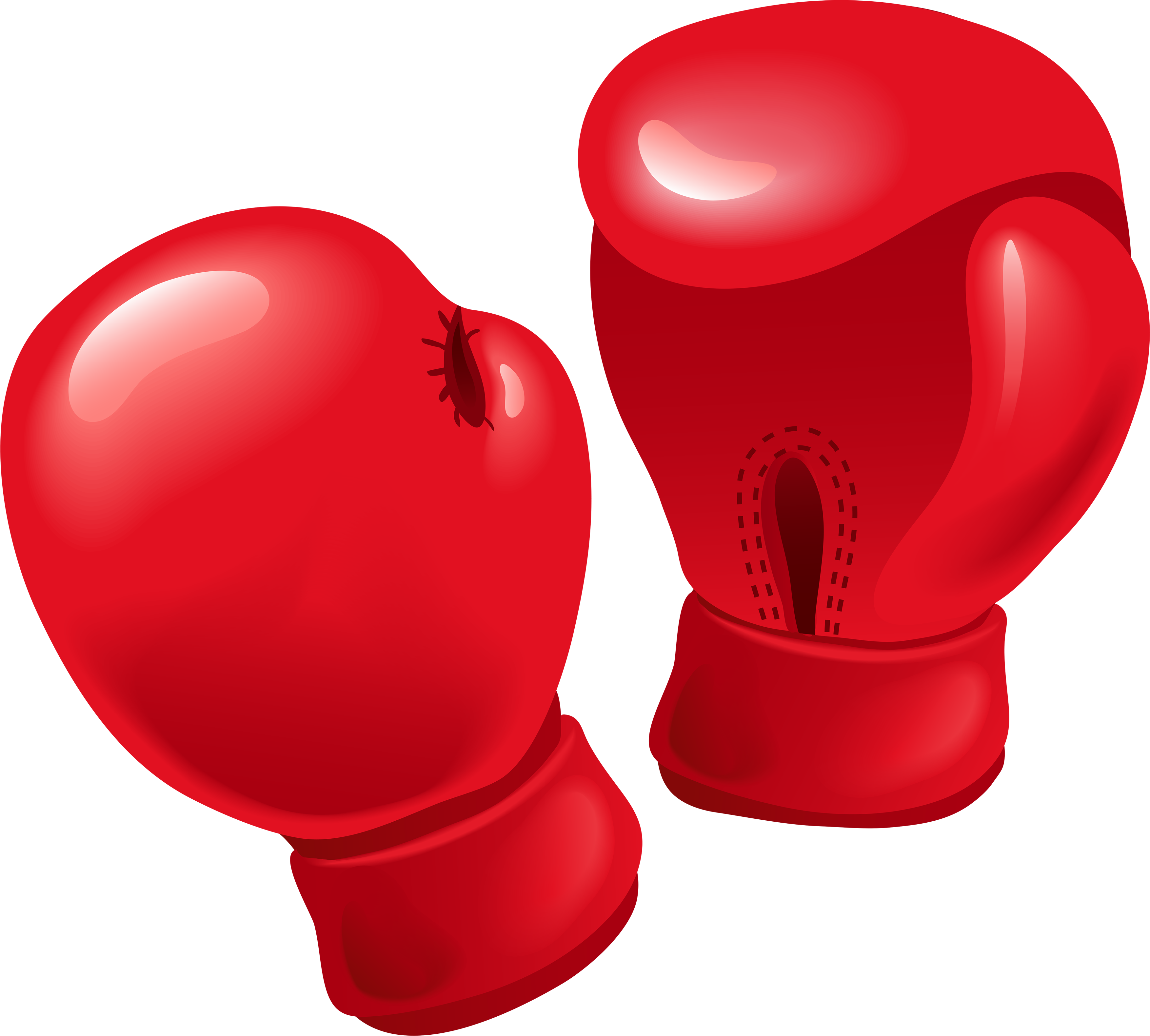 Red boxing gloves PNG image