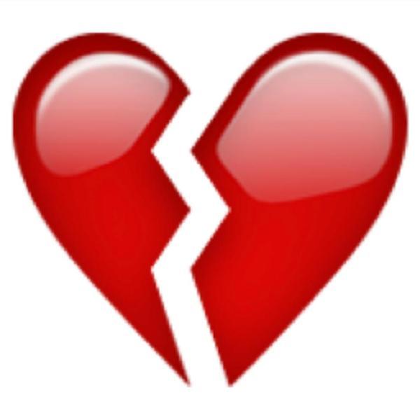 Red Broken Heart Clipart Image