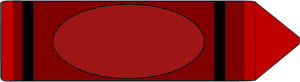 Red Crayon Clip Art Image - red crayon. This crayon has a blank label and this image can be edited to include text.