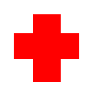 Red Cross Circle 2 Clip Art