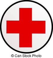 ... Red cross - Illustration of a sign of red cross in a circle.