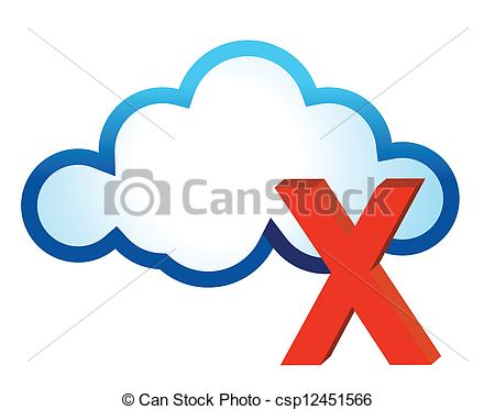 cloud and red cross mark - csp12451566