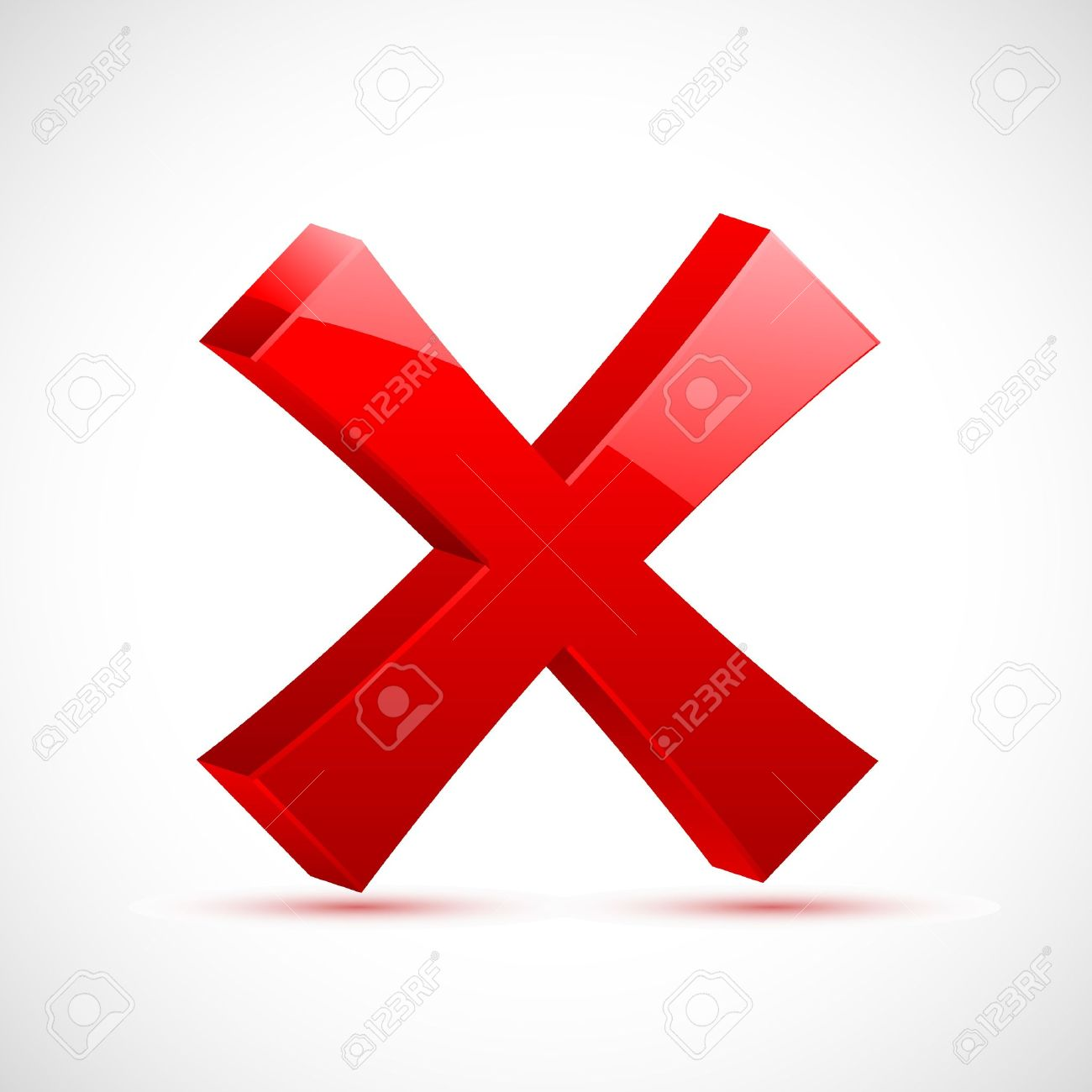 illustration of red cross mark on isolated background Stock Vector - 8778264