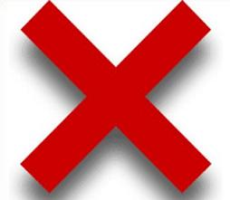 Red X Mark - Red Cross Mark Clipart