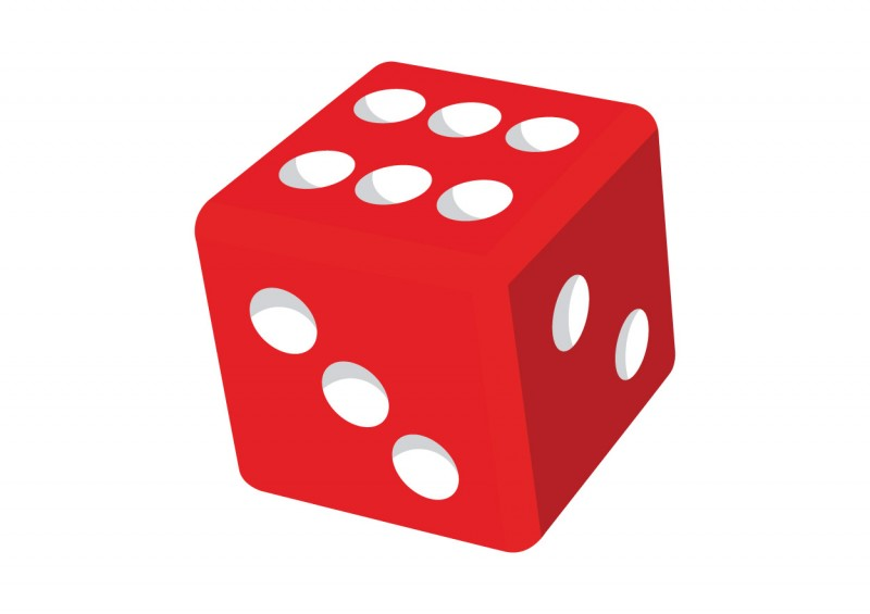 Red dice clipart