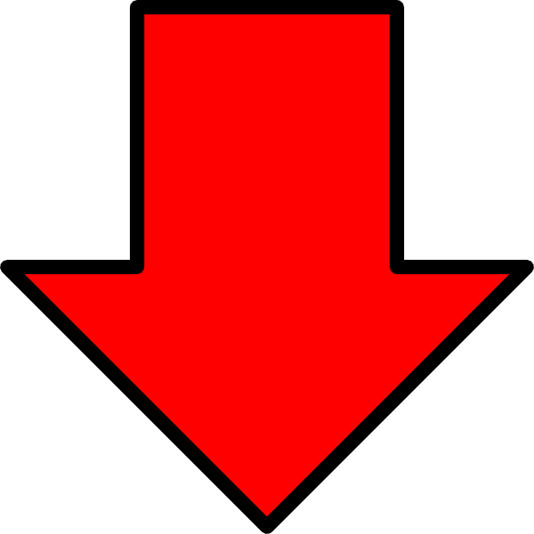 Red Down Arrow Clip Art At Clker Com Vector Clip Art Online Royalty