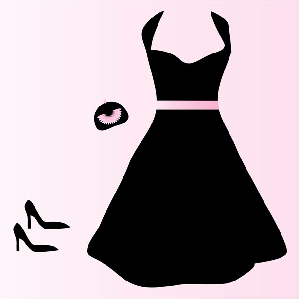 Red Dress Clipart - Dresses Clipart