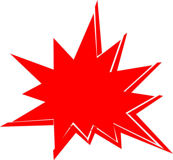 Red Explosion Clip Art