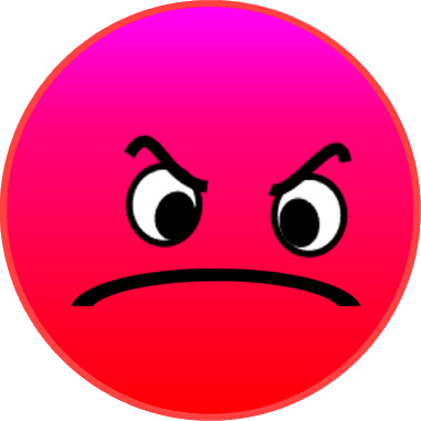 Red Face Angry Mad Pdplus 7cm - Mad Face Clip Art