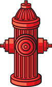 red fire hydrant ...