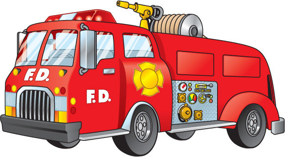 Red fire truck clipart-Red fire truck clipart-4