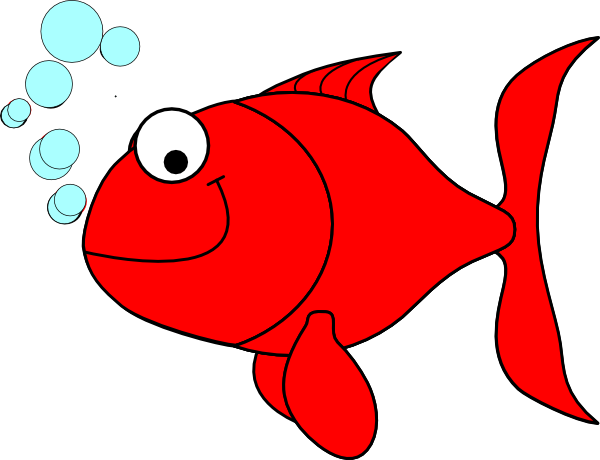 Red fish clip art free free clipart images