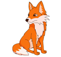 red fox clipart. Size: 63 Kb