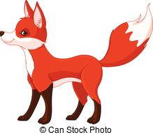 ... Red fox - Illustration of very cute red fox