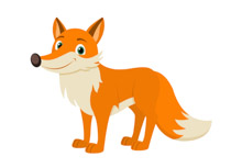 Red fox large furry tail clipart. Size: 52 Kb