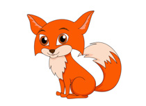 Red fox large furry tail clipart. Size: -Red fox large furry tail clipart. Size: 52 Kb-7