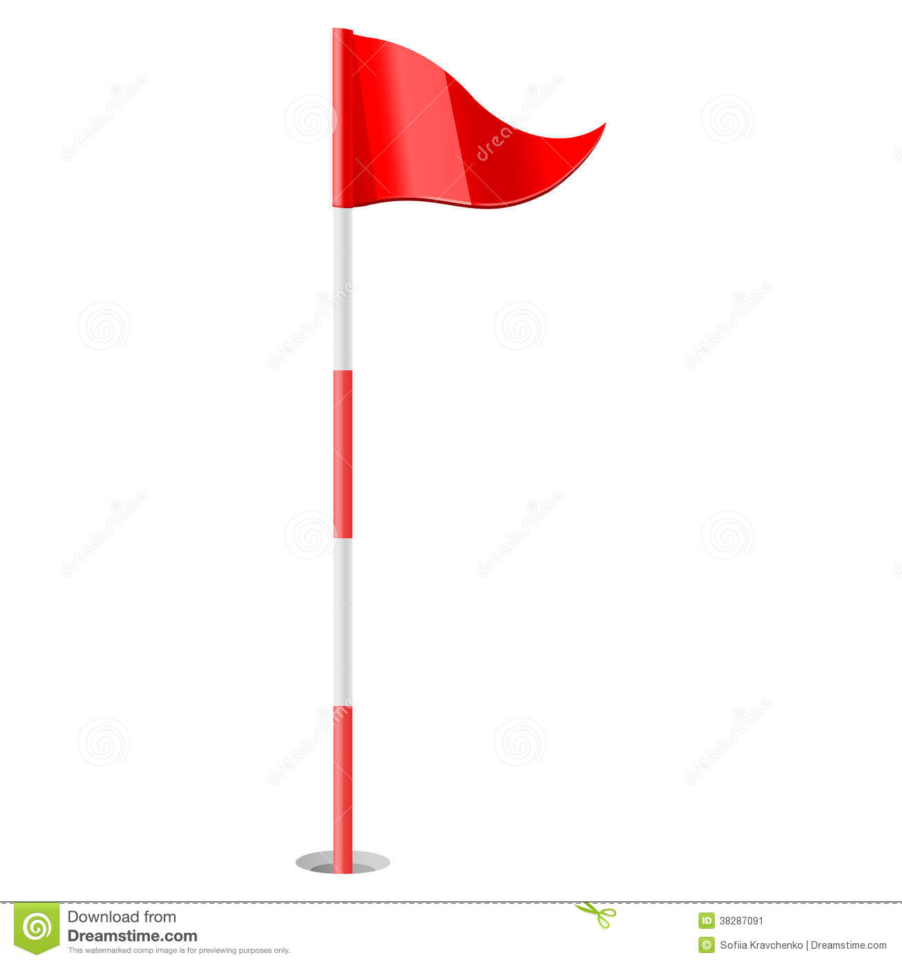 Red Golf Flag. Red Golf Flag. Golf Flag -Red golf flag. Red golf flag. Golf Flag Clipart-14