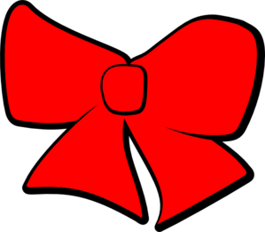 Red Hair Bow Clipart #1