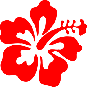 Red hawaiian flower clipart-Red hawaiian flower clipart-7