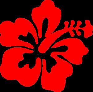 Red hawaiian flower clipart