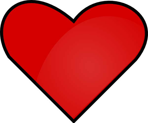Red Heart clip art Free Vector ...