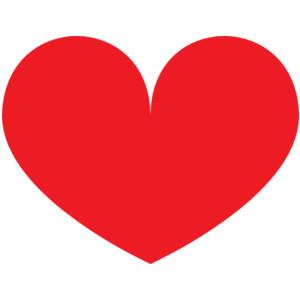 Red Heart clip art - vector . - Red Heart Clip Art