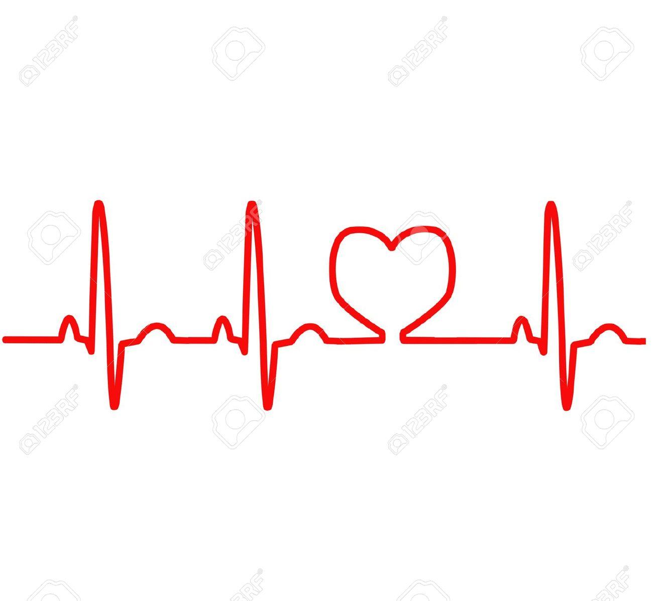 Red Heart Ekg Clipart #1-Red Heart Ekg Clipart #1-5