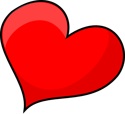 Red Heart Free Clip Art