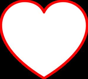 Red Heart Outline Clip Art ..-Red Heart Outline Clip Art ..-12
