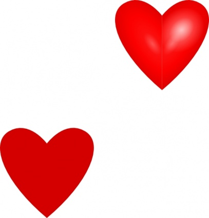 Red Hearts Clipart | Clipart library - Free Clipart Images