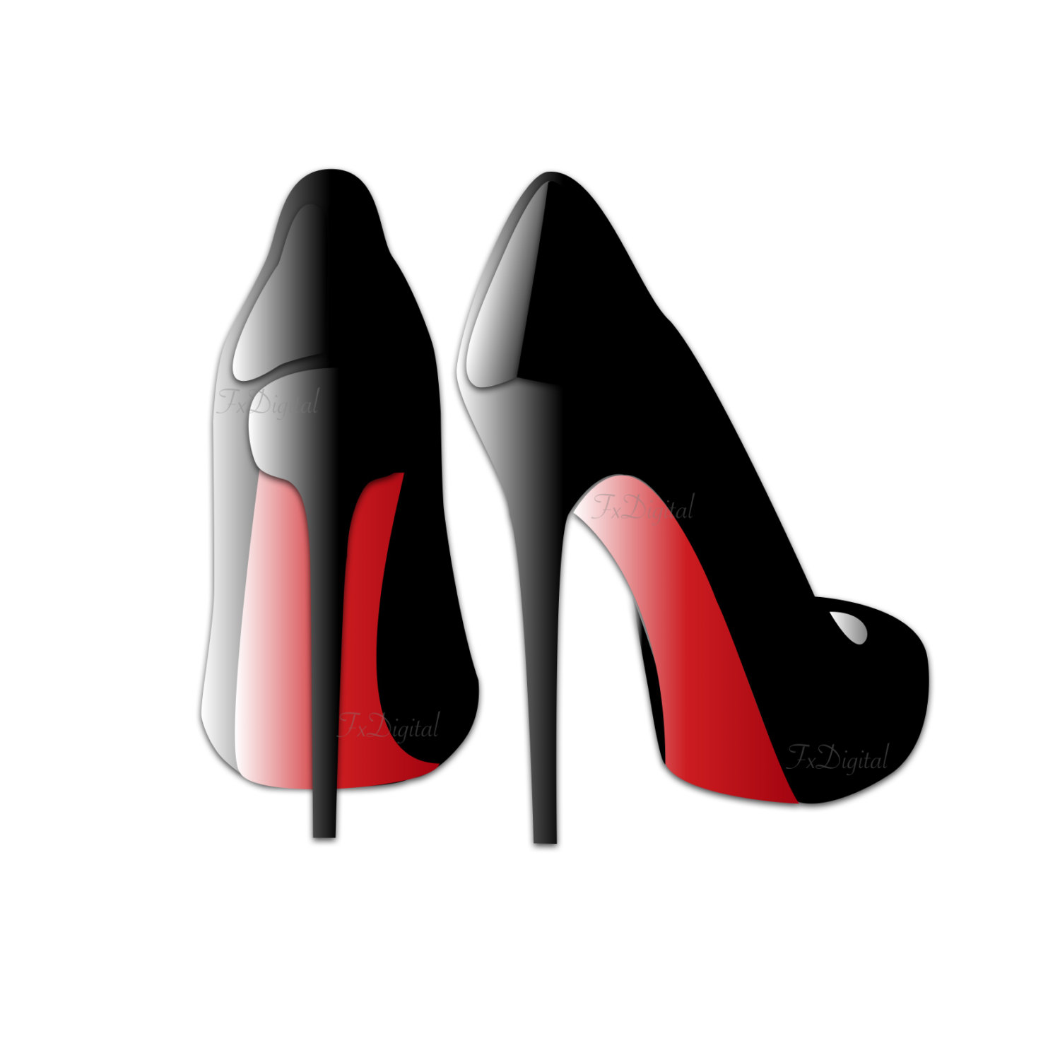 Red High Heels Clip Art - Sexy High Heels Graphic, Shoe Clip Art, Black Heels Vector, High Heels Transparent Background Image, Shoe Logo