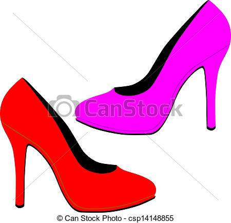 ... Red high heels EPS10 Red high heels Clipart ...