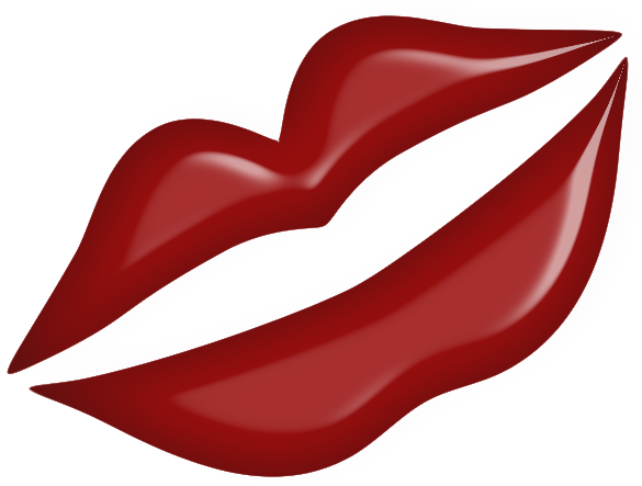Red Kiss Lips PNG Clipart