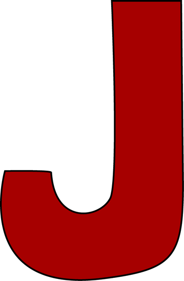 Red Letter J Clip Art Image Large Red Capital Letter J