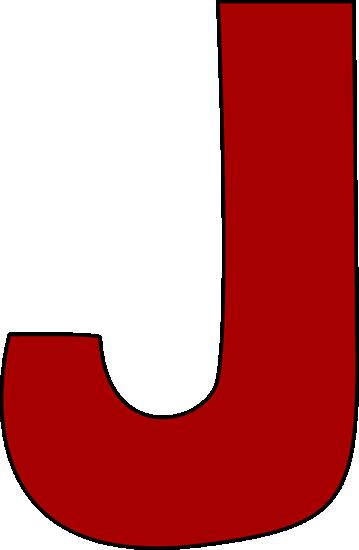Red Letter J Clip Art Image L - Letter J Clipart