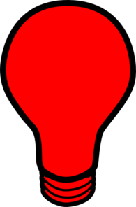 Red Light Bulb Clip Art-Red Light Bulb Clip Art-9
