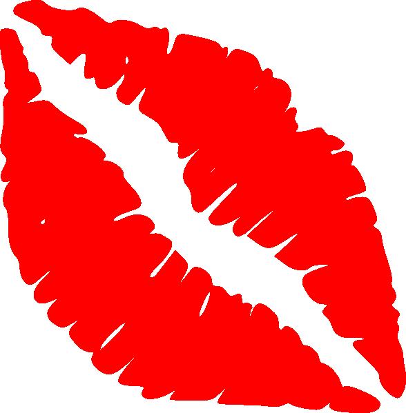 Red Lips Kiss Clip Art At Clker Com Vector Clip Art Online Royalty