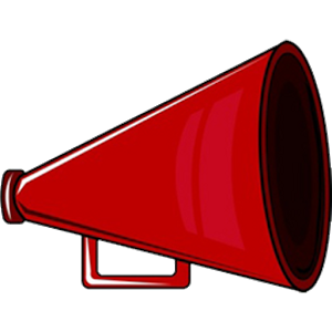 Red megaphone clipart free clipart images