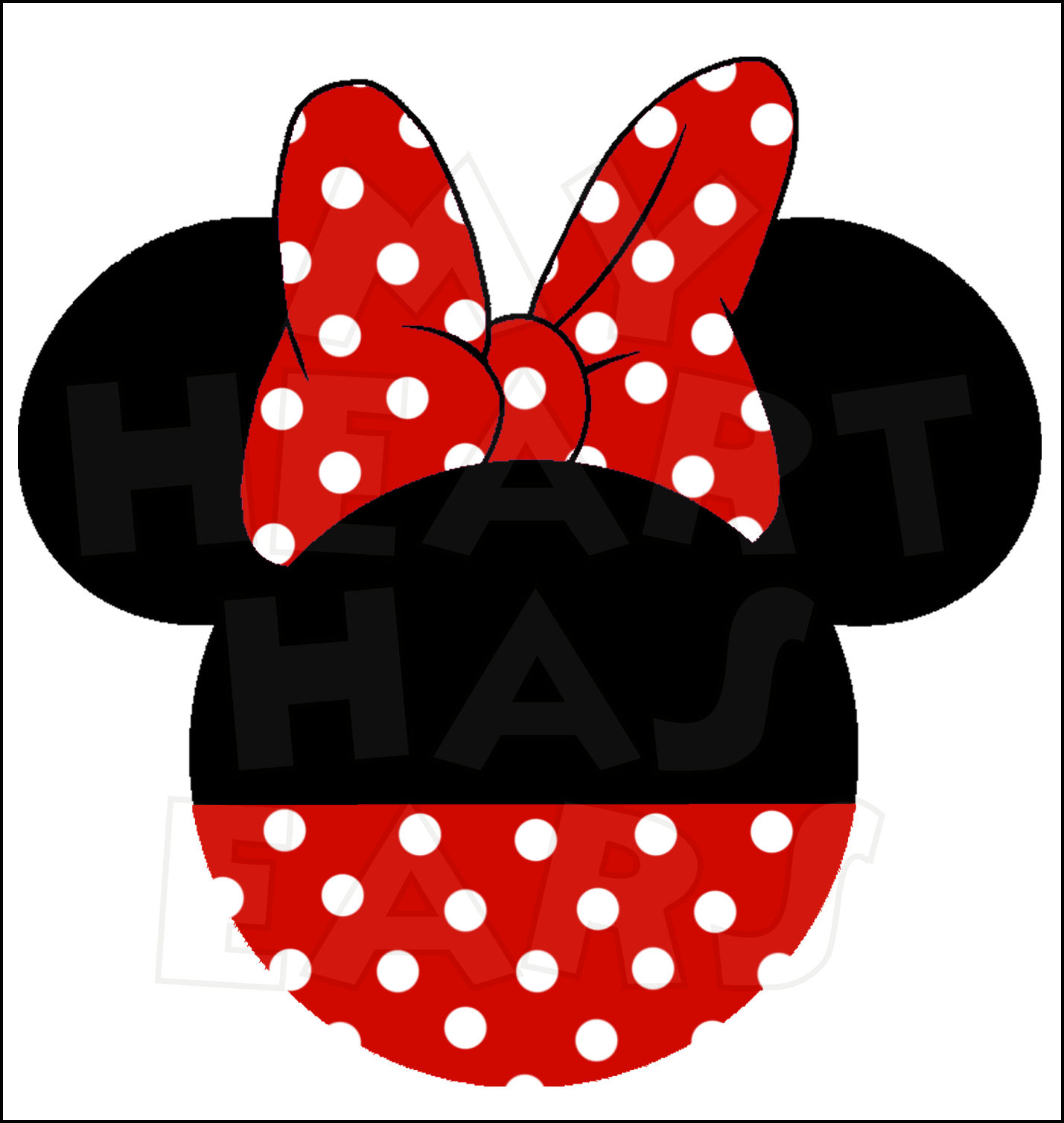 Red Minnie Mouse Face Clipart - Minnie Mouse Silhouette Clip Art