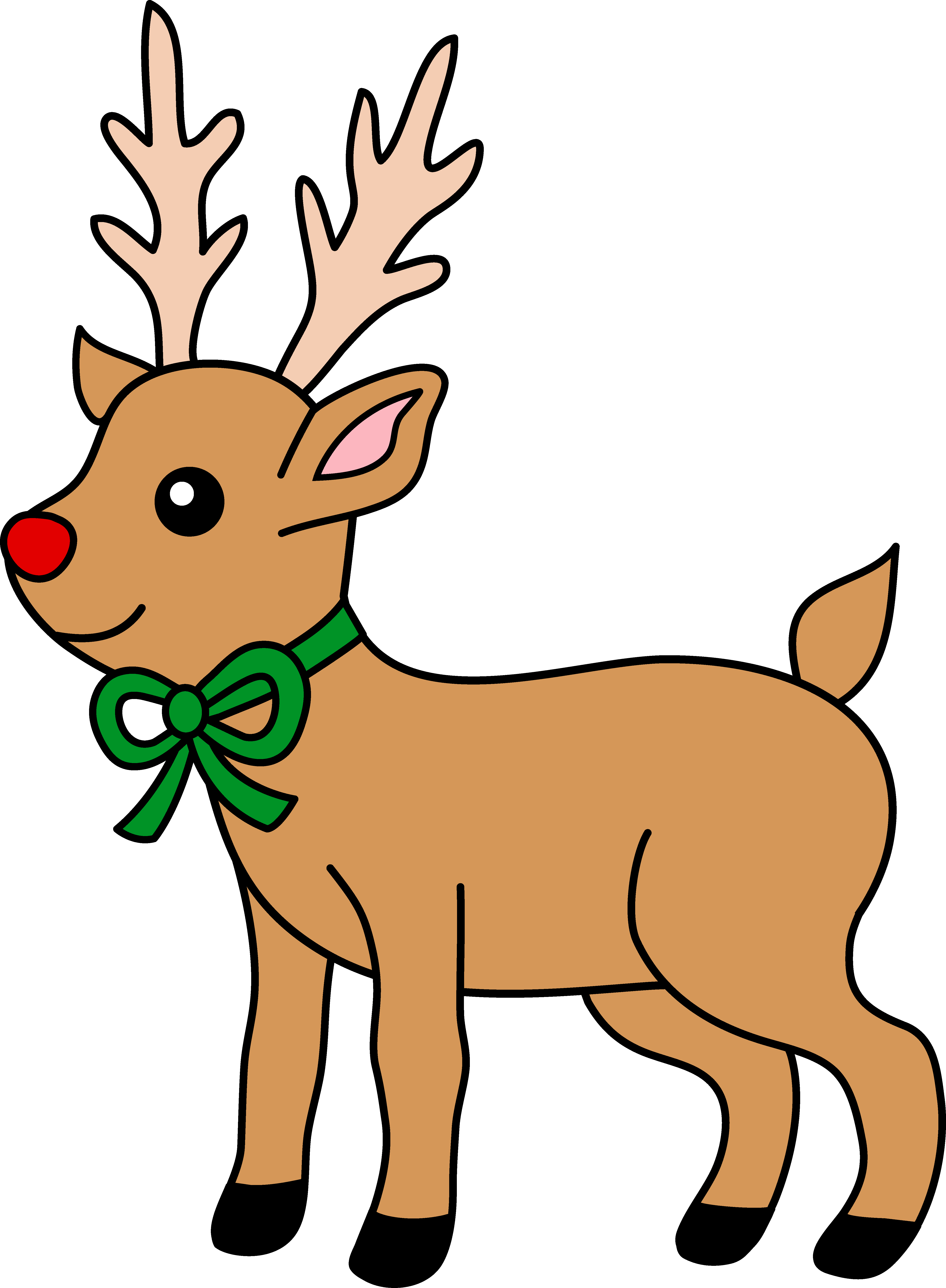 ... red-nosed reindeer Rudolp - Rudolph The Red Nosed Reindeer Clipart