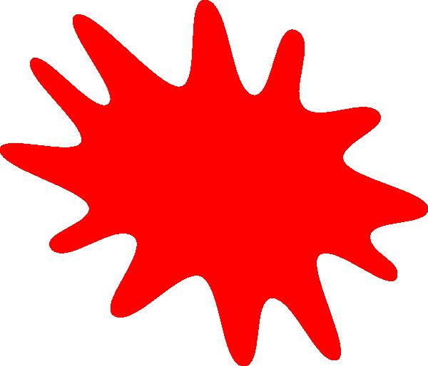 Red Paint Splatter Clip Art At Clker Com Vector Clip Art Online