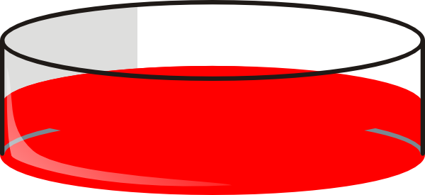 Red Petri Dish clip art .
