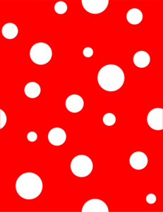 Red polka dot clip art - ClipartFest