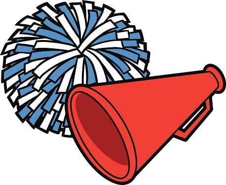Red Pom Poms Clip Art - Pom Poms Clipart