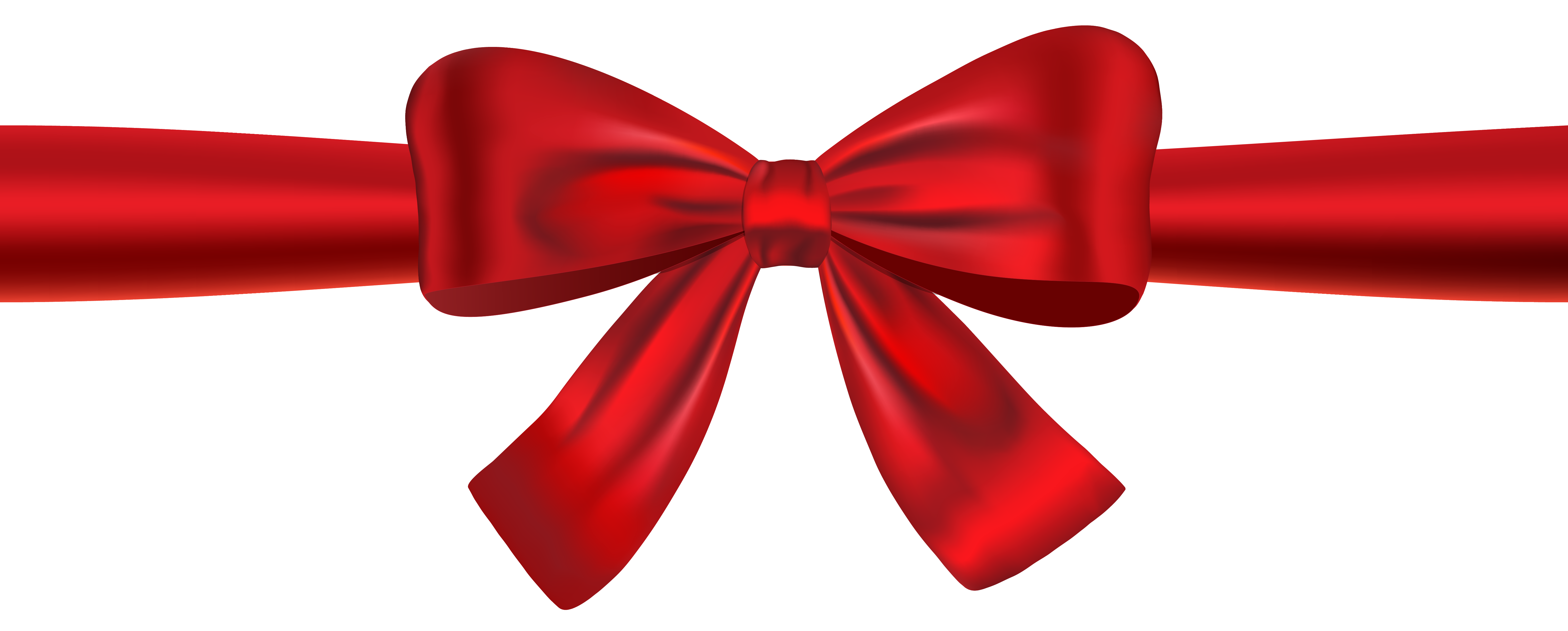 Red ribbon and bow clipart .